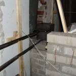 De schoorsteen klep en de schuif is geplaatst